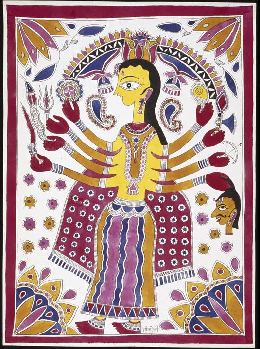 The Hindu deity Durga